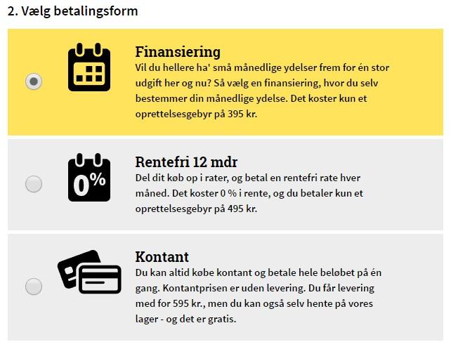 LEASY - finansiering - rentefri - kontant